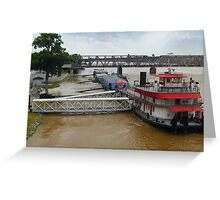 Submerged Walkways Greeting Card