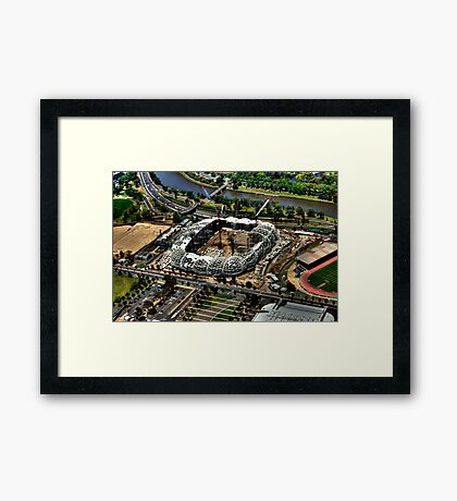 The Stadium. Framed Print