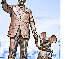 Walt and Mickey Samsung Galaxy Cases and Skins Blue by kellyblackie