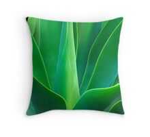 Blue Foxtail Throw Pillow