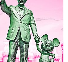 Walt and Mickey Samsung Galaxy Cases and Skins Pink by kellyblackie
