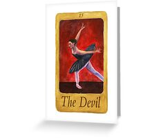 Ballet Tarot Cards: The Devil Greeting Card