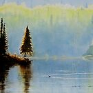 Loon at Rongie Lake by Douglas Hunt