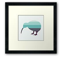Kiwi in Saltwater Swimsuit Ombre Framed Print