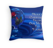 Water Drop SnowGlobe Throw Pillow
