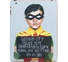 Funny Robin Superhero Mugshot Painting iPad Case/Skin