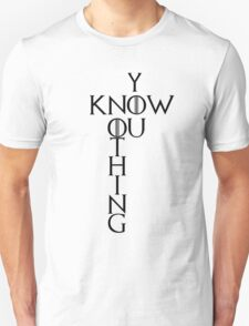 """Game of Thrones """"You Know Nothing"""" Crossword Style Unisex T-Shirt"""