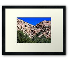 Mule Mountains - Empty Waterfall Framed Print