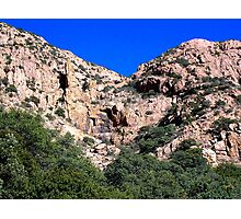 Mule Mountains - Empty Waterfall Photographic Print
