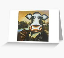 classical reproduction in hand painting Greeting Card