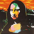 Colorful Mona Lisa in POP Warhol style by diasha