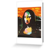 Colorful Mona Lisa in POP Warhol style Greeting Card