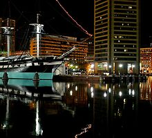 USS Constellation in Baltimore by Drew Poland