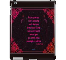 Might As Well Live - Dorothy Parker (ruby) iPad Case/Skin