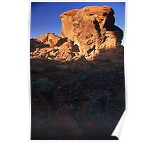 Megalith in the Valley of Fire, Nevada  Poster