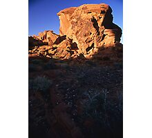 Megalith in the Valley of Fire, Nevada  Photographic Print