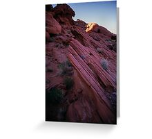 Striated Rock, Valley of Fire, Nevada Greeting Card