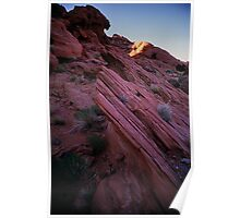 Striated Rock, Valley of Fire, Nevada Poster