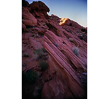 Striated Rock, Valley of Fire, Nevada Photographic Print