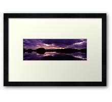 Sunset in the Catlins Forest Park Framed Print