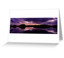 Sunset in the Catlins Forest Park Greeting Card