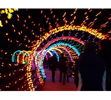 Festival of Lights Earthworm Tunnel Photographic Print