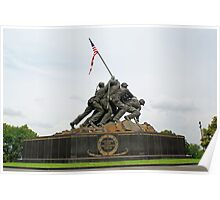 Iwo Jima Marine Memorial Poster