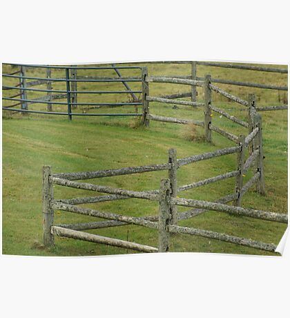 Vermont Fence Poster