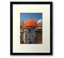 Orange Dome Framed Print