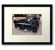 "Blue ""Blu Tour de France"" Ferrari FXX, Rear View, Maranello, Italy Framed Print"