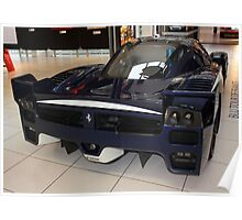 "Blue ""Blu Tour de France"" Ferrari FXX, Rear View, Maranello, Italy Poster"