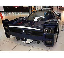 "Blue ""Blu Tour de France"" Ferrari FXX, Rear View, Maranello, Italy Photographic Print"