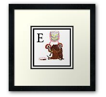 E is for Echidna Framed Print