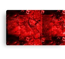 Ballerina- Red on black -  Art + Products Design  Canvas Print