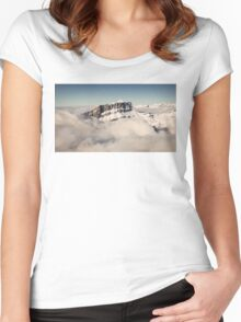 Above the Clouds, French Alps Women's Fitted Scoop T-Shirt