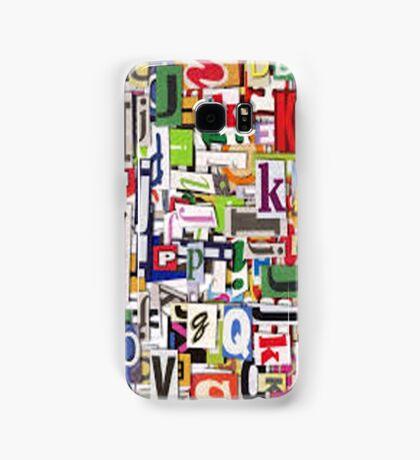 alphabet blocks Samsung Galaxy Case/Skin