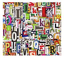 alphabet blocks Photographic Print