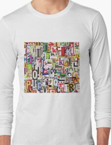 alphabet blocks Long Sleeve T-Shirt