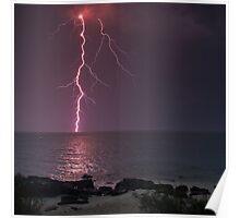 lightning bolt - jervis bay Poster