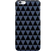 Black and Blue Jeans Blue Triangle Pattern iPhone Case/Skin