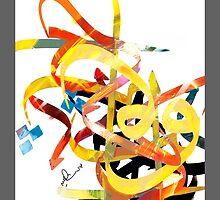 Abstract Art - Calligraphy by Khalid  Shahin