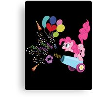 Pinkie Pie Cannon! Canvas Print