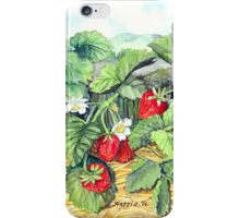 Strawberries and Rail Fence iPhone Case/Skin