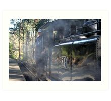 Engine & Steam Art Print