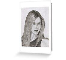 Jennifer Aniston Greeting Card
