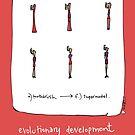 Evolutionary development of a Supermodel by Shelley Knoll-Miller