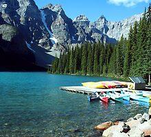 Moraine Lake, Alberta, Canada by Deb22