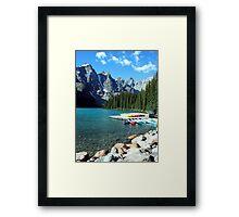 Moraine Lake, Alberta, Canada Framed Print