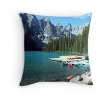 Moraine Lake, Alberta, Canada Throw Pillow