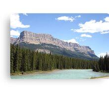Bow River in Banff National Park, Alberta, Canada Canvas Print